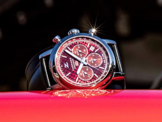 The red lacquer dial is really eye-catching.