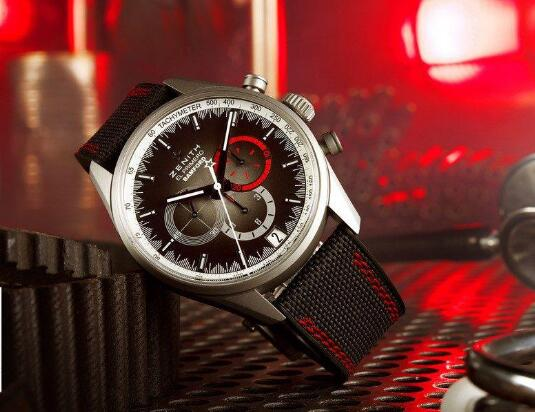 The Zenith timepiece is with vintage aesthetics and futuristic style.
