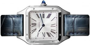 The male replica watch has silvery dial.